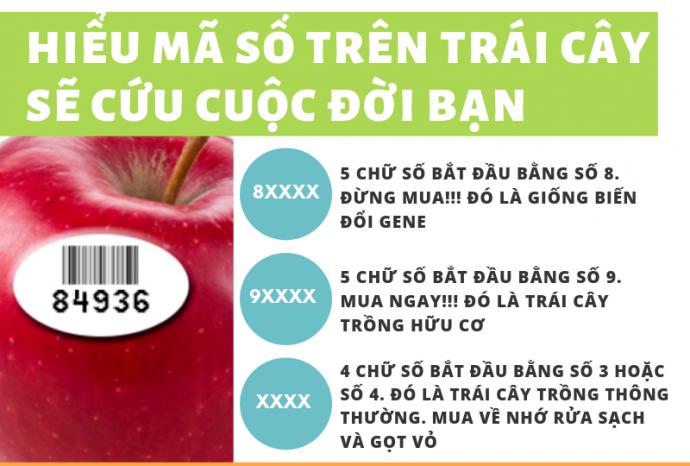 Hiểu những mã số trên trái cây sẽ cứu cuộc đời bạn